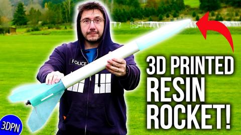 Launching a 3D Printed Resin Model Rocket?