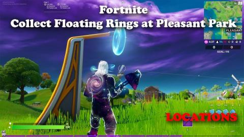 Collect Floating Rings at Pleasant Park - Fortnite Week 4 Challenge LOCATIONS