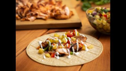 Grilled Salmon Tacos with Pineapple Salsa Recipe | Char-Broil®