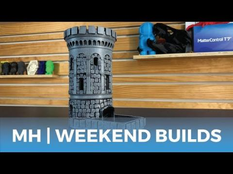 MatterHackers Weekend Builds // 3D Printed Lamps, Succulent Wall Art, & Dice Tower