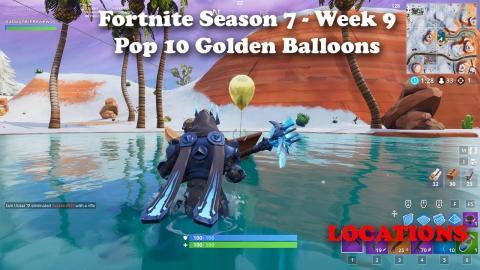 Fortnite - Pop 10 Golden Balloons - Locations