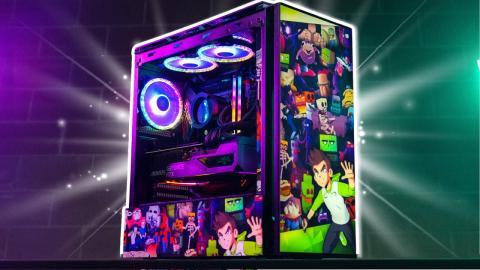 We built the ULTIMATE Meme Custom Gaming PC for Sam Green