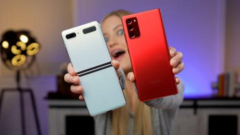 New Colors! Samsung Galaxy Mystic White Z-Flip 5G and Mystic Red Note 20! ❤️