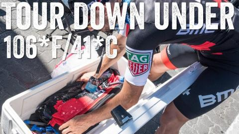 Tour Down Under 2018: Cooling vest tech for 106*F/41*C race day!