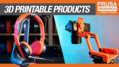 Semi-3D printable products from Print+, Edelkrone, IKEA, ASUS and more!