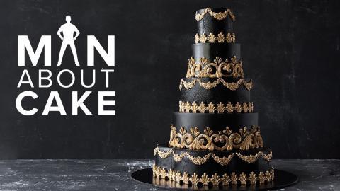 #CakeSlayer Halloween: GOTHIC WEDDING CAKE | Man About Cake with Joshua John Russell