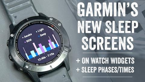 Quick Tips: Garmin's New On-Watch Sleep Tracking Widgets