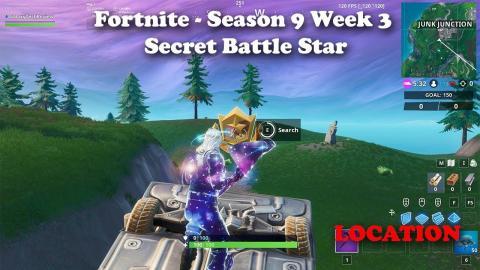 Fortnite - Season 9 - Week 3 - Secret Battle Star LOCATION