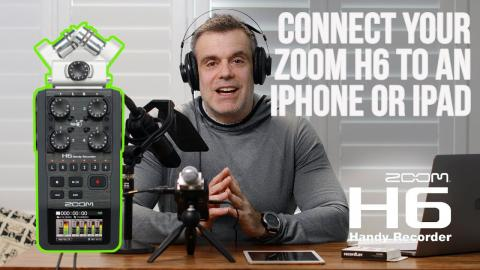 Can you connect a zoom H6 Audio Recorder to your iPhone or iPad ? Yes you Can!