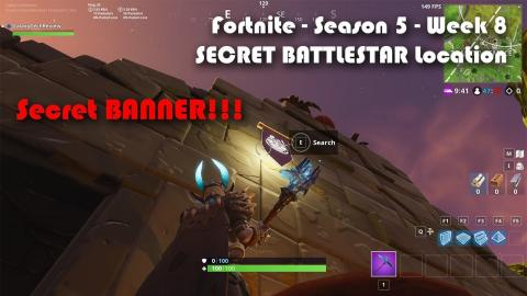 Fortnite - Season 5 - Week 8 BATTLESTAR LOCATION! Road Trip #8 - SECRET BANNER!