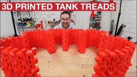 3D PRINTED TREADS FOR THE BIG TANK