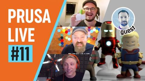 PRUSA LIVE #11 - guest WEKSTER, Lamp Contest Winners, Prusa calculator,  + Q&A