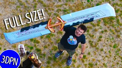 FULL SIZE 3D PRINTED THANOS SWORD!
