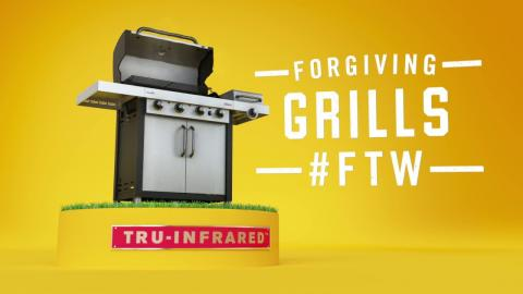Char-Broil TRU-Infrared Grills: Dry Food Video :15