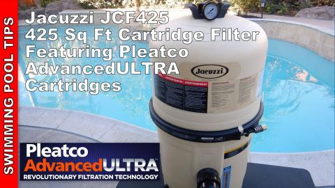 Jacuzzi JCF425 Cartridge Filter with Pleatco Advanced ULTRA Cartridges Included!