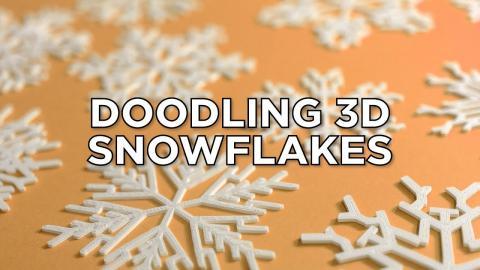Doodling 3D Snowflakes with Doodle3D Transform