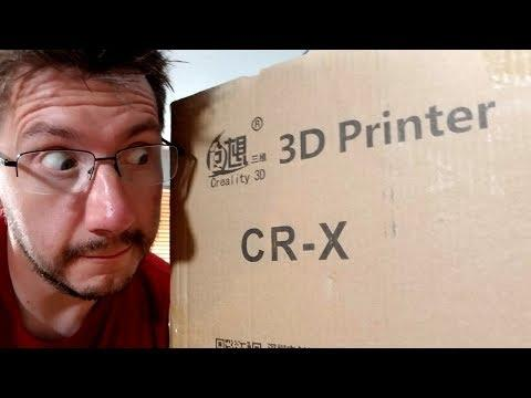 Creality CR-X Unboxing & Setup! (Was Live)