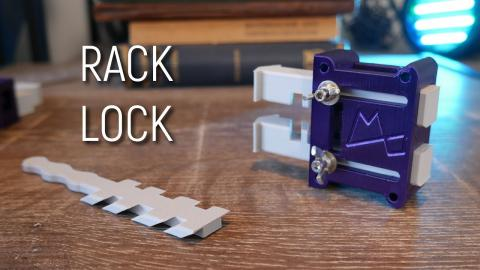 """This Strange Lock can be opened with a Carrot? 3D Printed """"Rack Lock"""""""