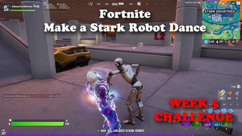 Make a Stark Robot Dance - Fortnite Season 4 Week 5 Challenge