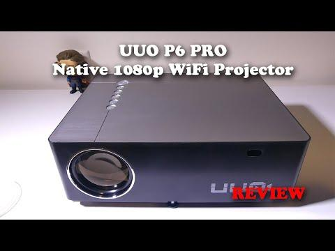 UUO P6 PRO Native 1080p WiFi Projector REVIEW