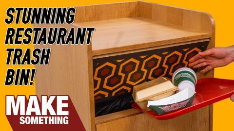 Making a Restaurant Style Trash Bin with a Killer Twist! Woodworking Project