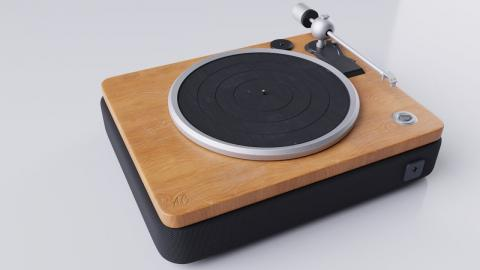 Speed Modeling | Vinyl Record Player for Comfy Room | Blender 2.9