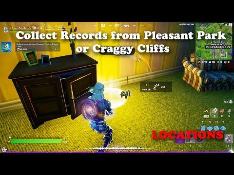 Collect Records from Pleasant Park or Craggy Cliffs Locations   Fortnite