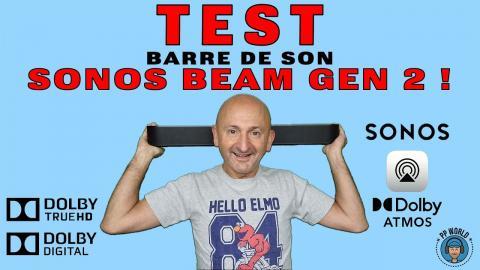 TEST : Barre de son SONOS Beam Gen 2 ! (avec essais en AUDIO 3D)