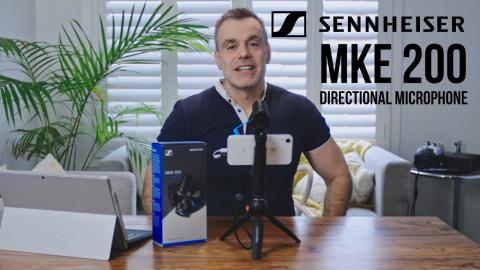 Sennheiser MKE200 compact directional microphone for your camera or iPhone