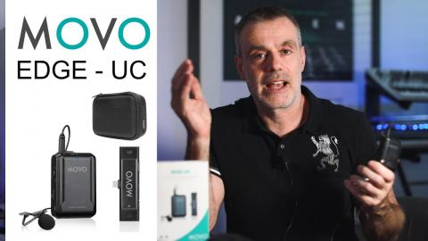 Crystal Clear wireless audio for Android Devices and the iPad PRO | Movo Edge UC | USB Type3 Lav Mic