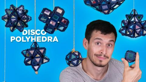 Making Polyhedron Disco Balls with Polypanels