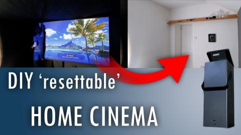 Make an Easily-Reset Home Cinema - ft  4K laser projector CineBeam