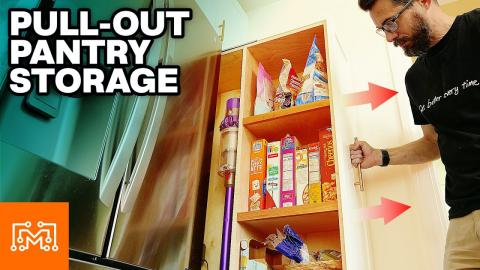 How To Make a Pull Out Pantry   I Like To Make Stuff