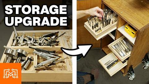 Drill Press Storage Upgrade | I Like To Make Stuff