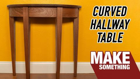 Making a Hallway Table Out of Solid Walnut