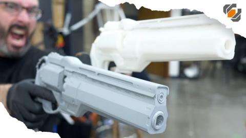 How to Make a Two Part Silicone Mold - Destiny Hand Cannon Casting