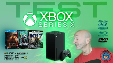 Xbox Series X : TEST DVD, Blu-ray, 4K, HDR, Dolby Atmos, Dolby Vision, DTS-Audio, Netflix...