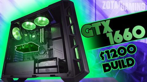 $1200 GTX 1660 Gaming PC Timelapse Build!