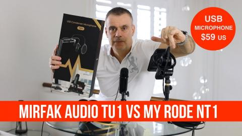 Mirfak TU1 USB microphone VS My RODE NT1 - Pretty good for the price