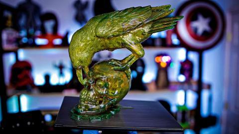 Resin 3D Printed Raven & Skull  #shorts