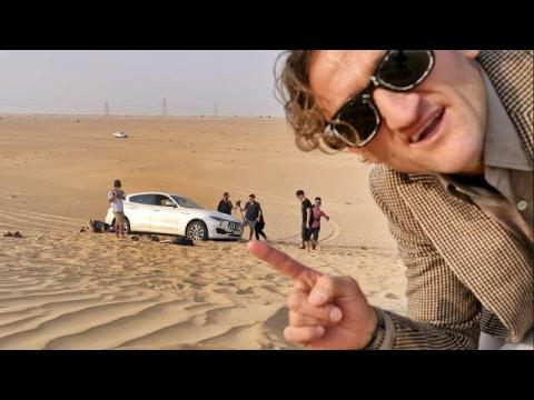 Maserati Levante.. stuck in the sand