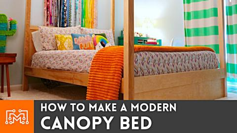How to Make a Modern Canopy Bed