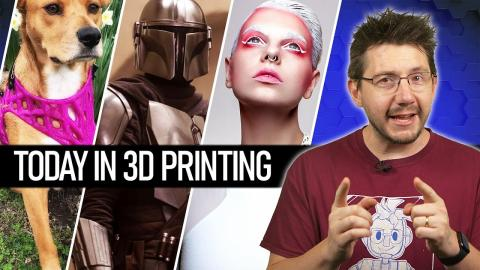 Today In 3D Printing // 3D Printed Dog Prosthetics, Mandalorian PPE, Math Powered Jewelry