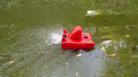UNDERWATER AIR BOAT TEST