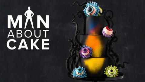 #CakeSlayer Halloween: EYEBALL FLOWER CAKE | Man About Cake with Joshua John Russell