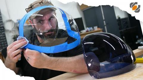 ACES Astronaut Helmet Visor for Adam Savage - Vacuum Forming Tutorial