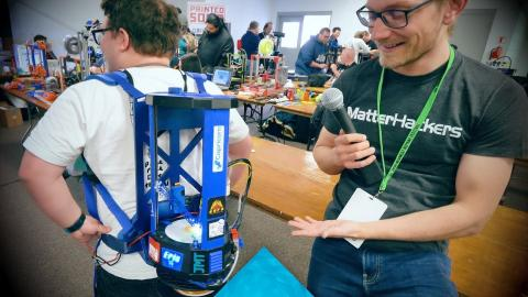 The wireless Backpack 3D Printer setup #MRRF2018
