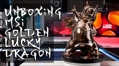 MSI Golden Lucky Dragon UNBOXING - 35th Anniversary