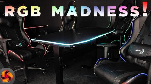 Aerocool showcase RGB Gaming Desks and Chairs!