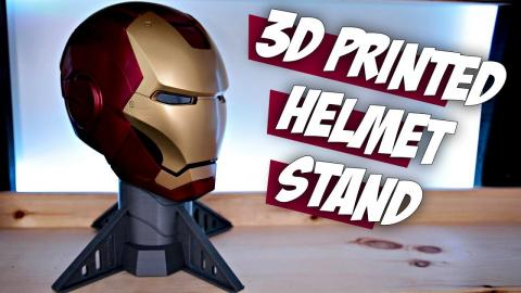 3D Printed Helmet Stand   Perfect for your replica props and cosplay